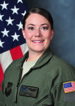 Liz Krotec in uniform