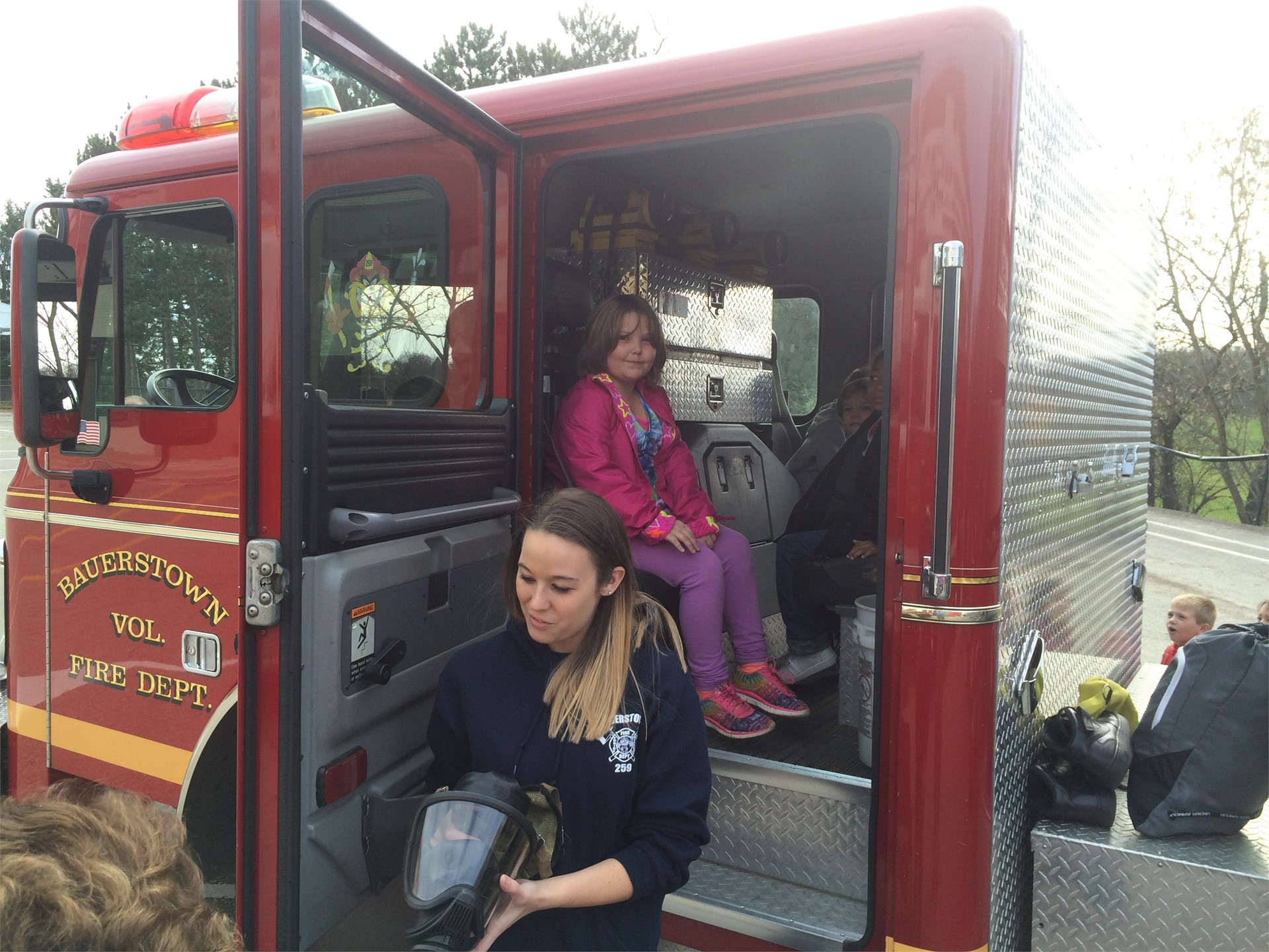 Bauerstown Visits Marzolf for Community Safety Program