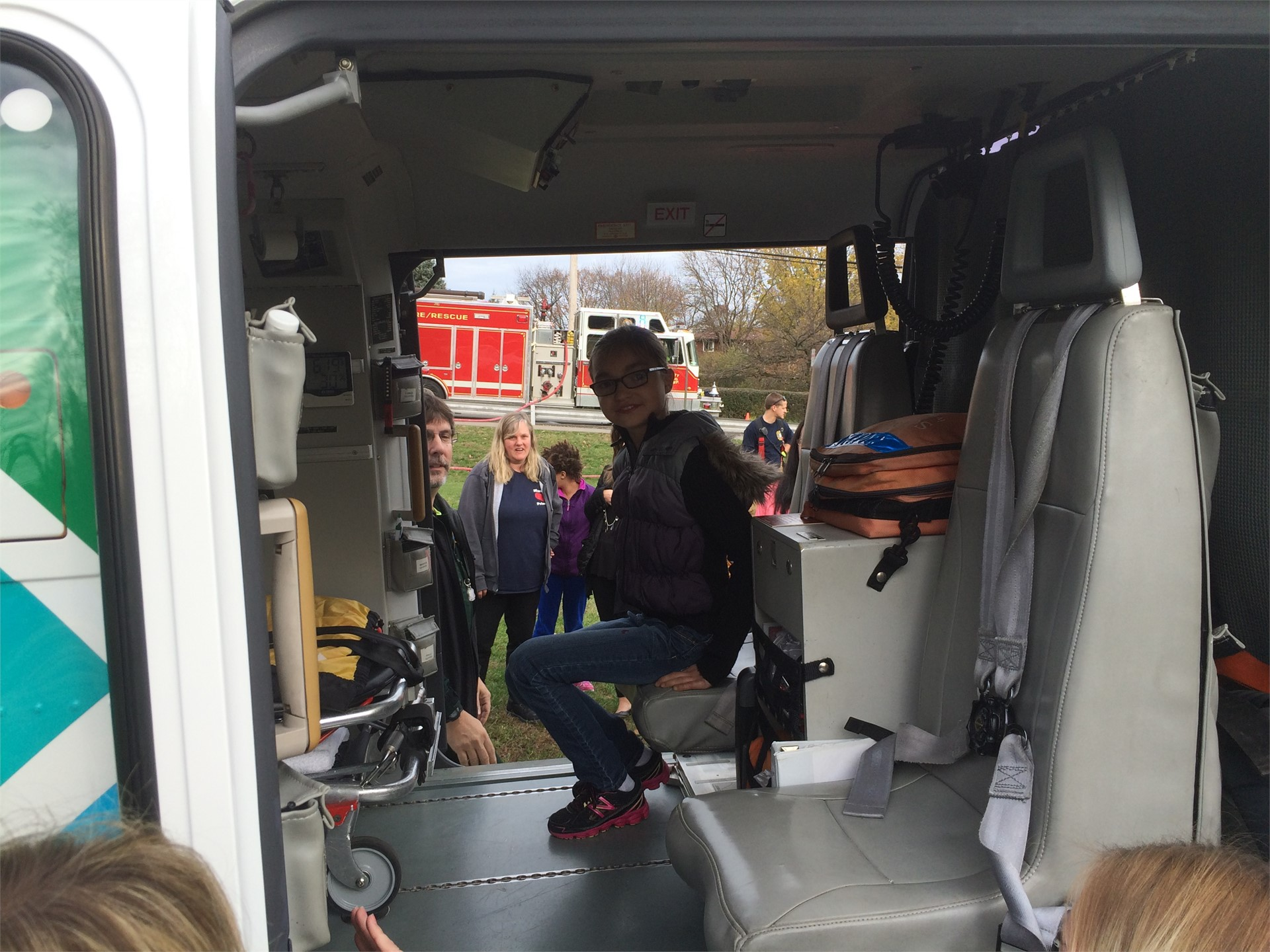 Life Flight visits Marzolf for Community Safety Program