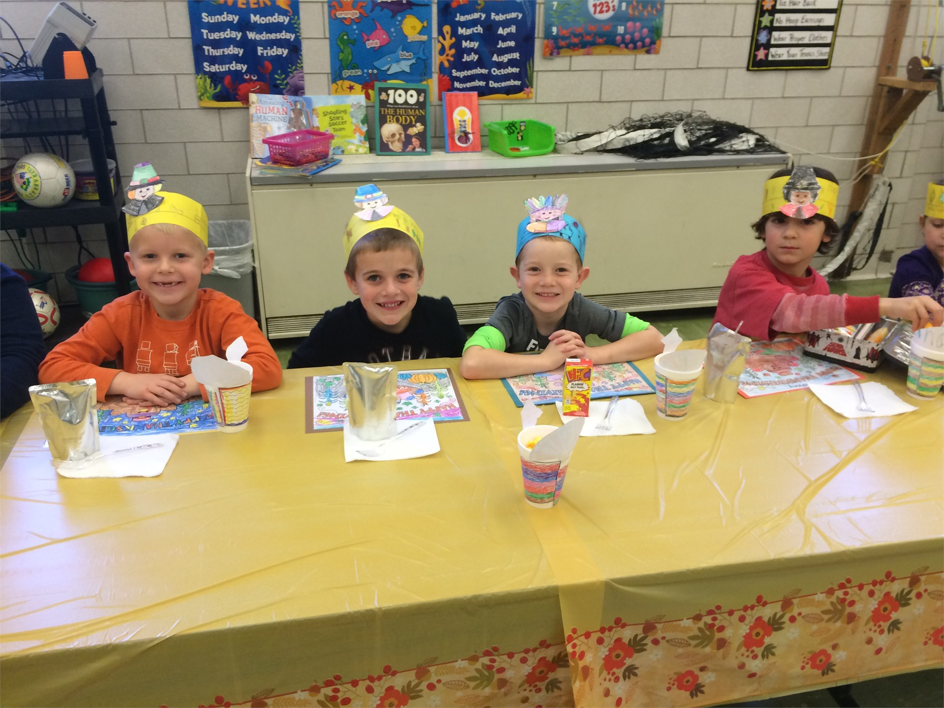 First Grade Thanksgiving Feast