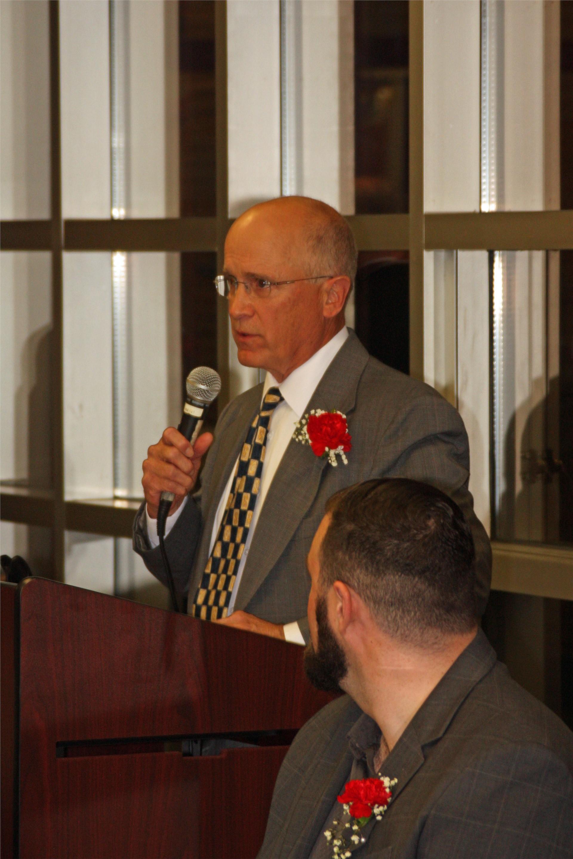 Ken Case acceptance speech for Wrestling Team