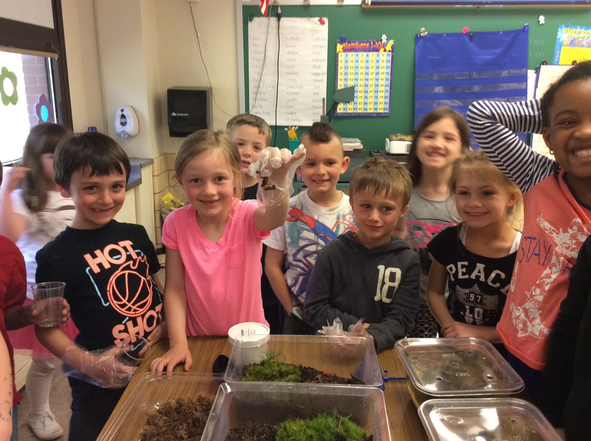 First graders love science!