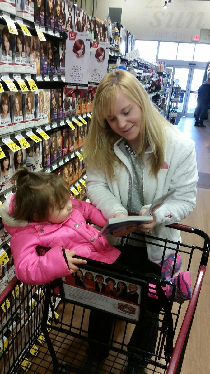 Extreme Reading with my daughter!