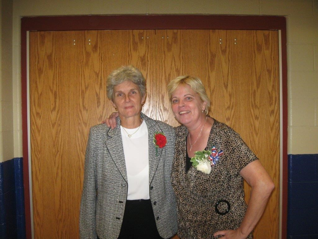 Jill Anderson with Carol Martin
