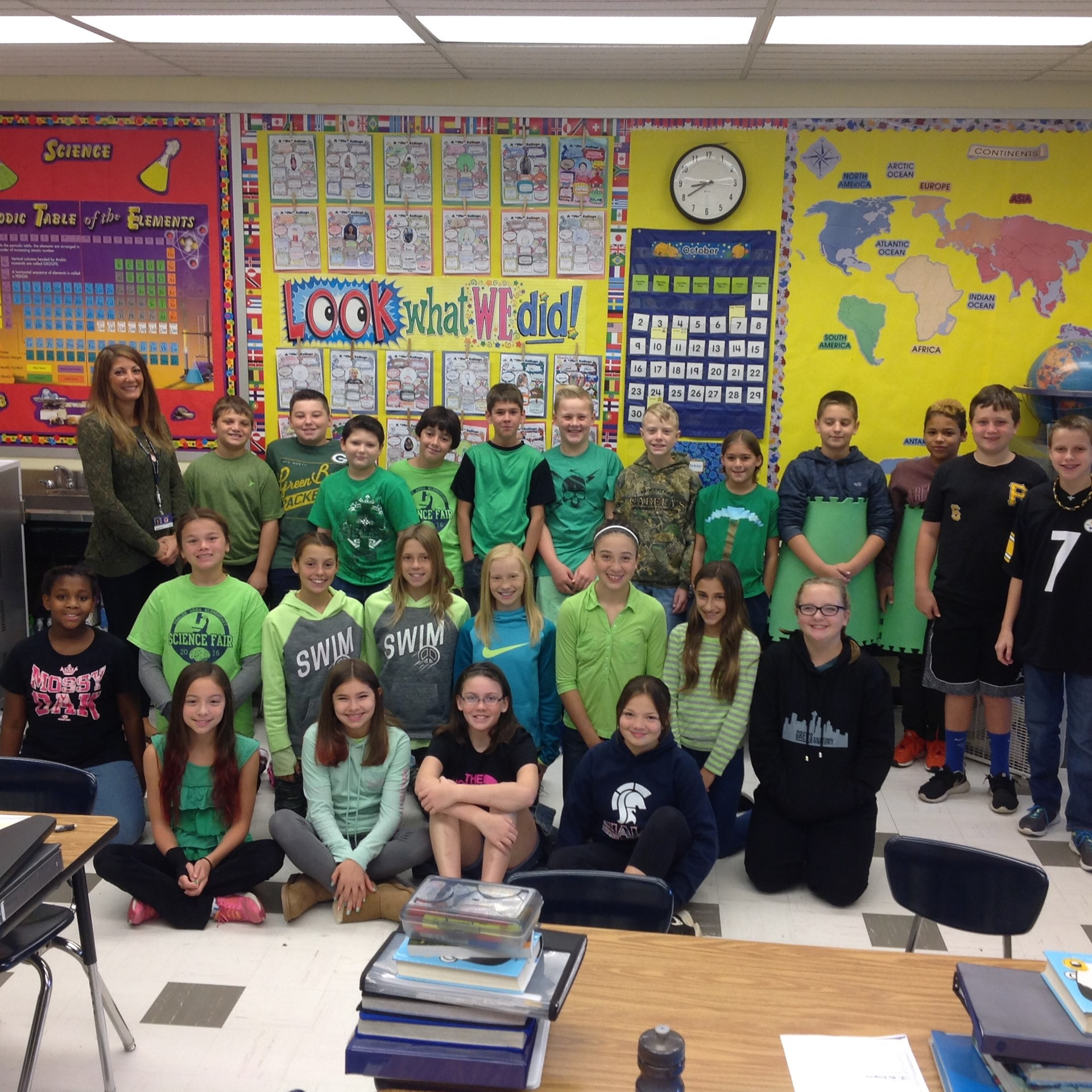 Green Day in 6D-National Disabilities Awareness Month
