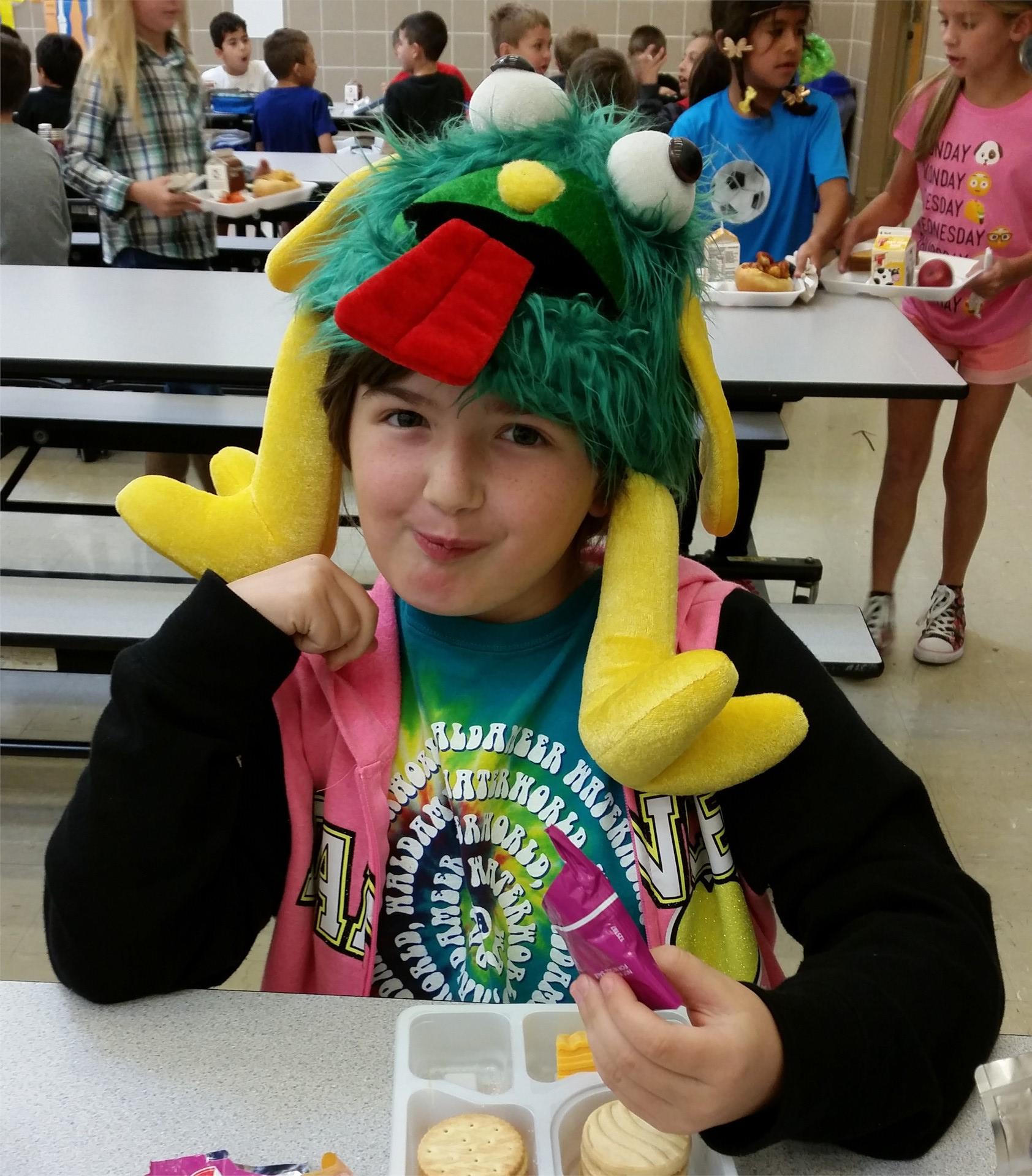 crazy hat/crazy hair day