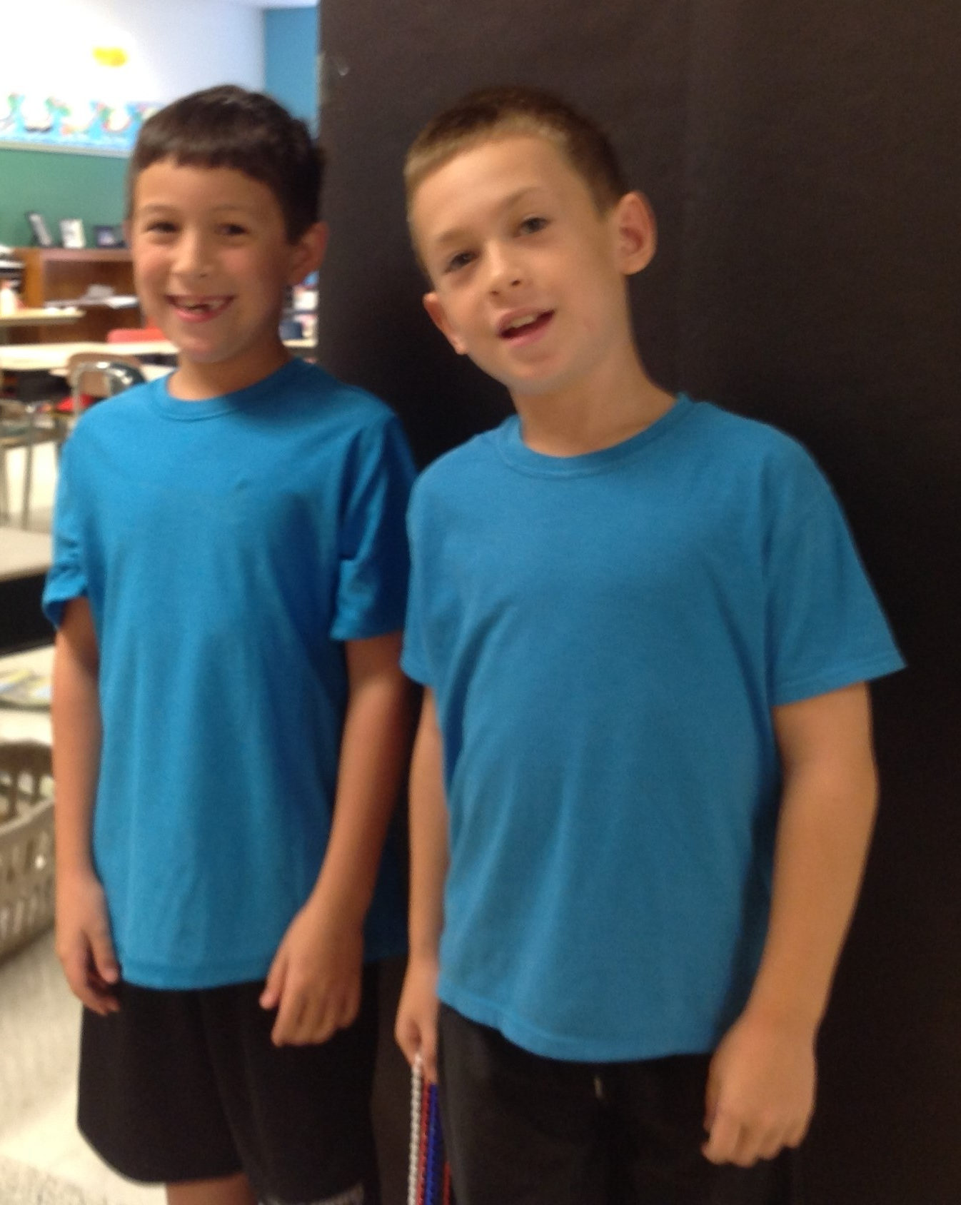 Dressing like twins day