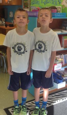 Twins dressing like twins
