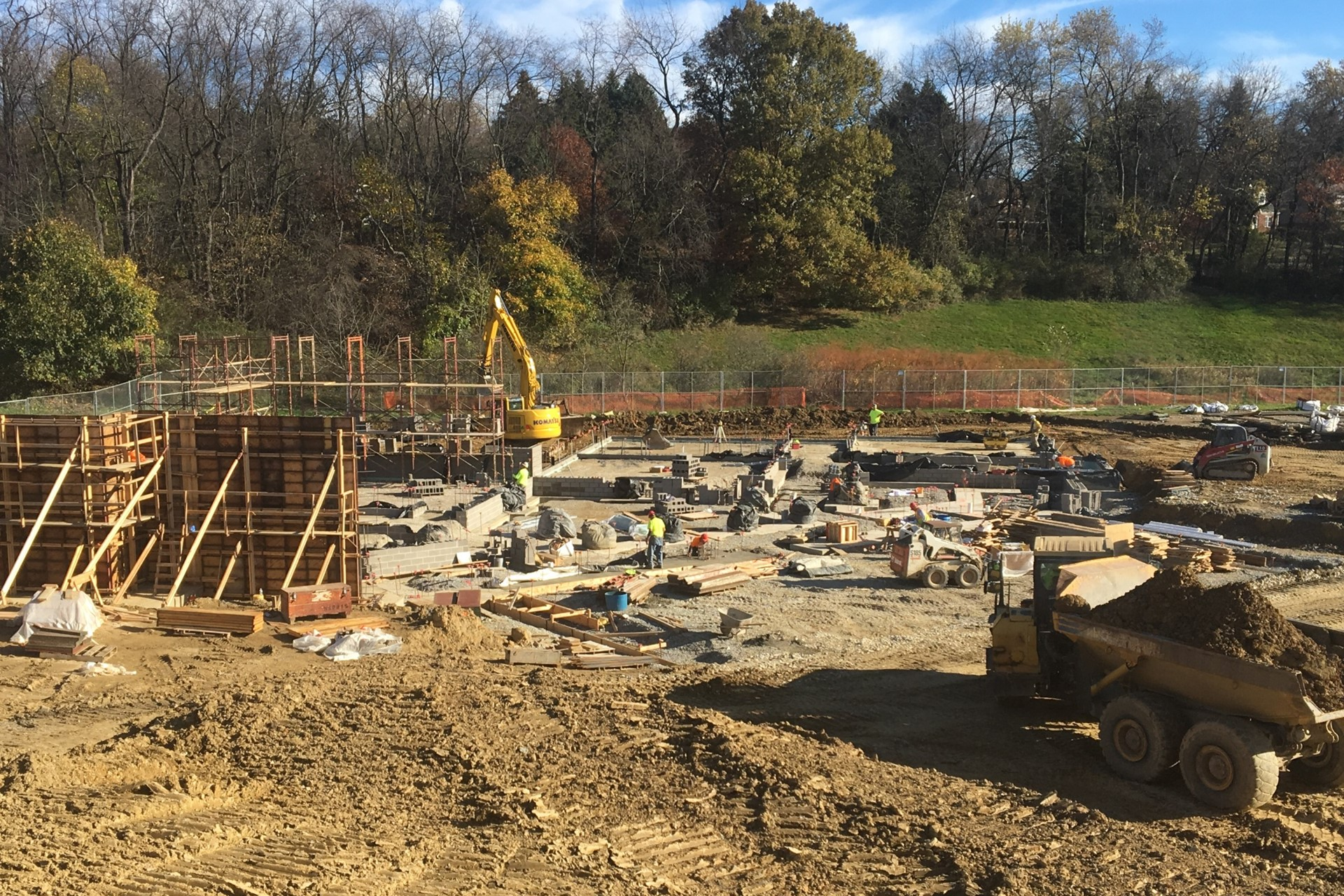 New school footings and foundation