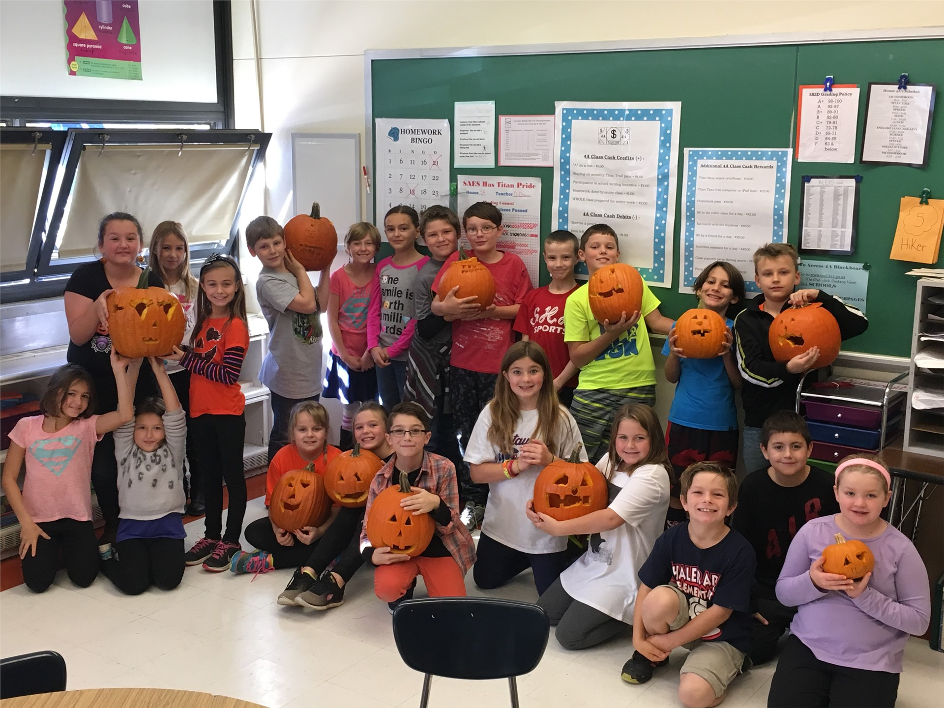 Pumpkin Carving - Fourth Grade