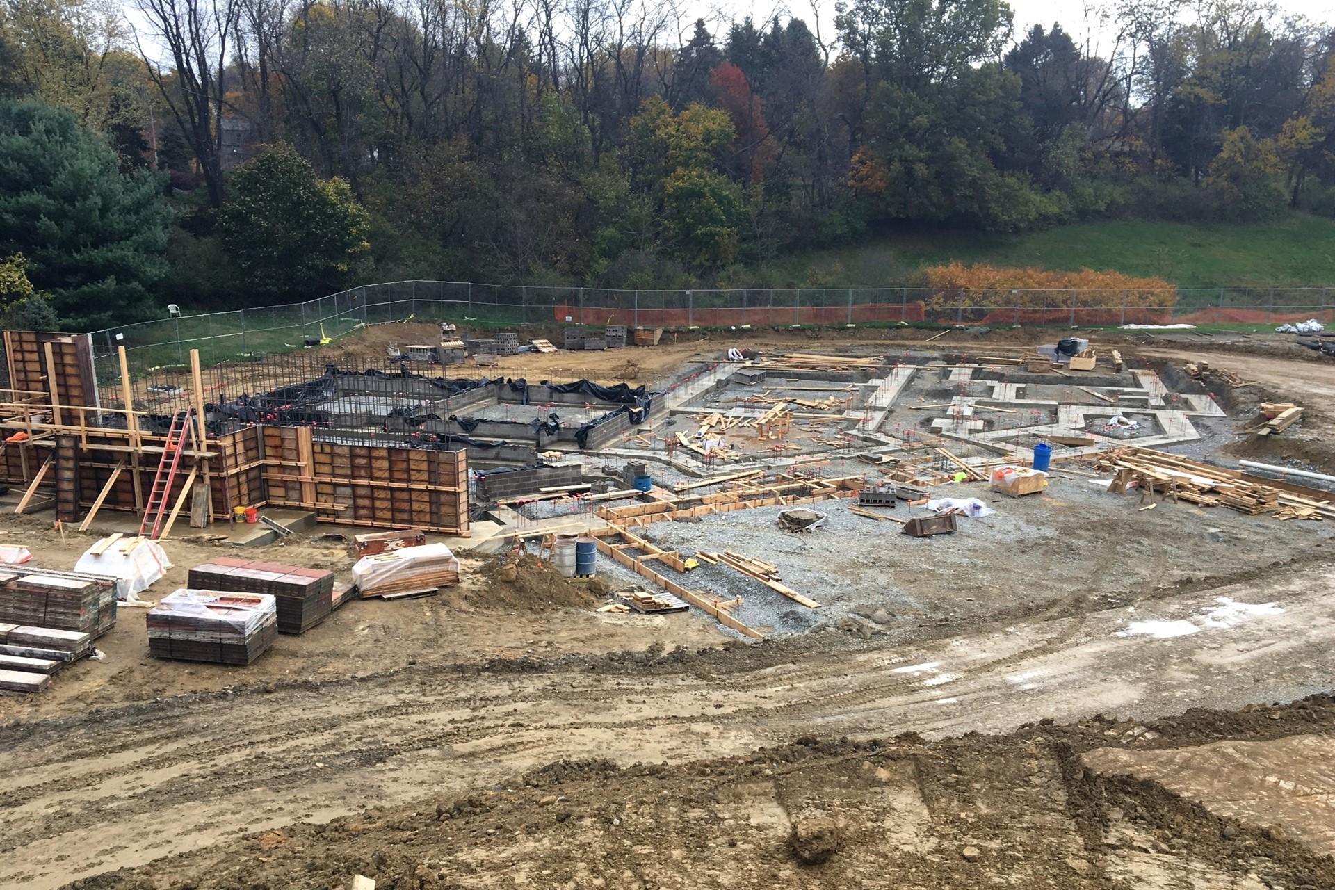 New school footings and foundations