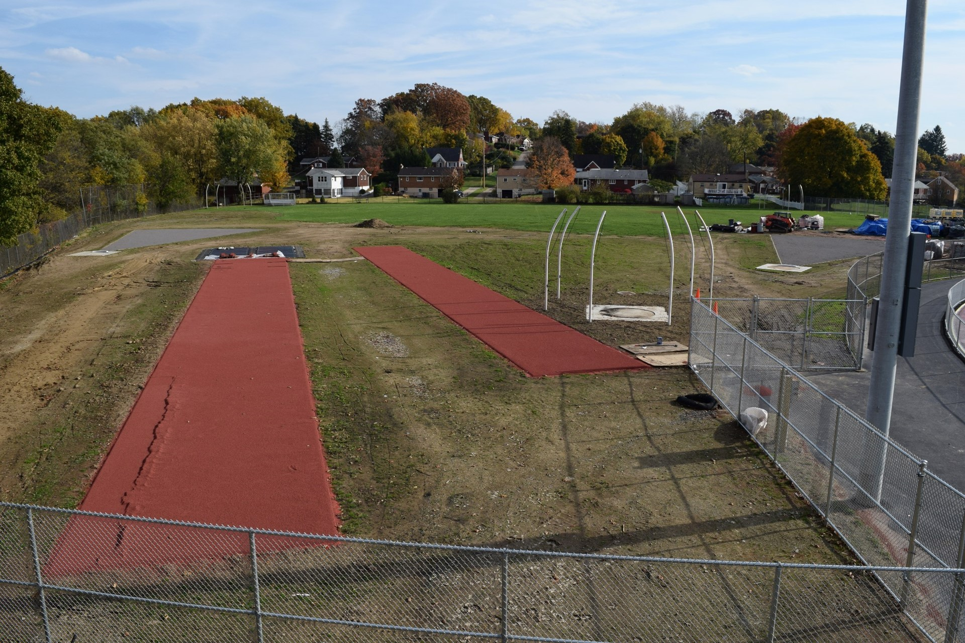 Titan Stadium field event areas