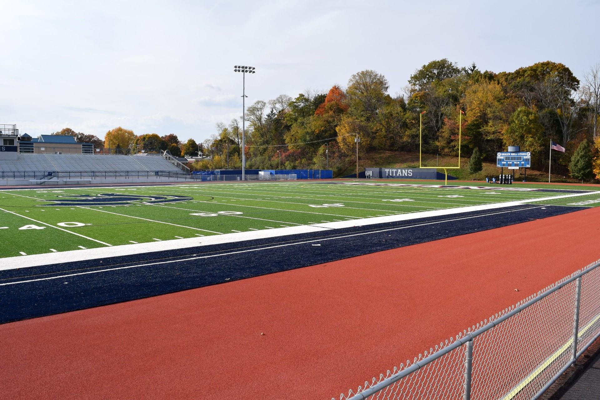 Titan Stadium track installation