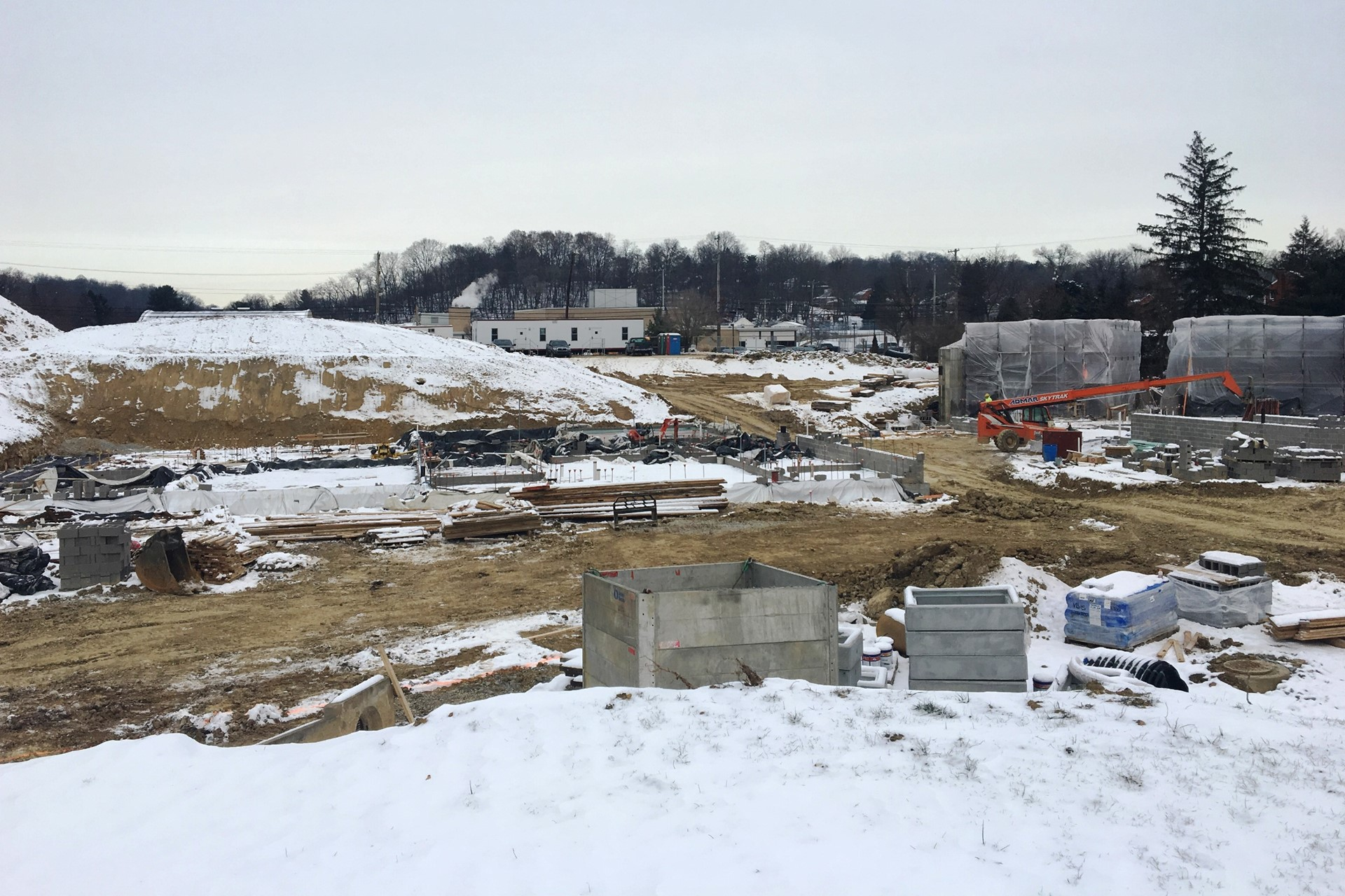 New school construction site