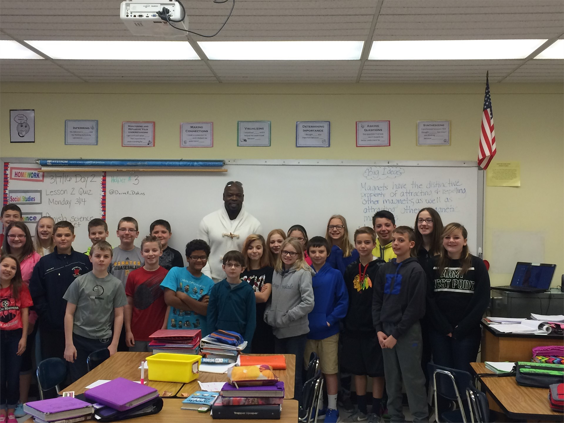 Former NFL Player-Darnell Dinkins-Academics are the first step to success!