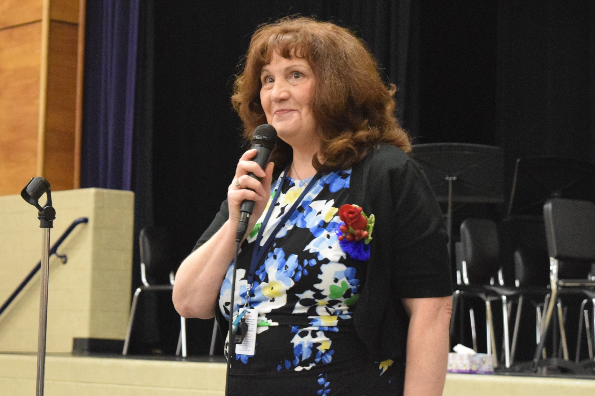 Principal Cynthia Foht speaks during the Rogers Reunion: May 2016