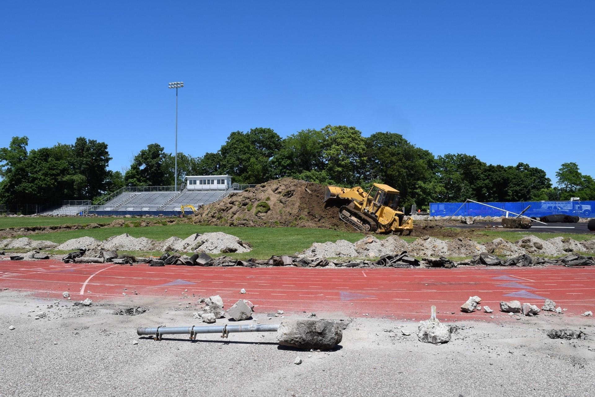Titan Stadium construction site work: June 2016