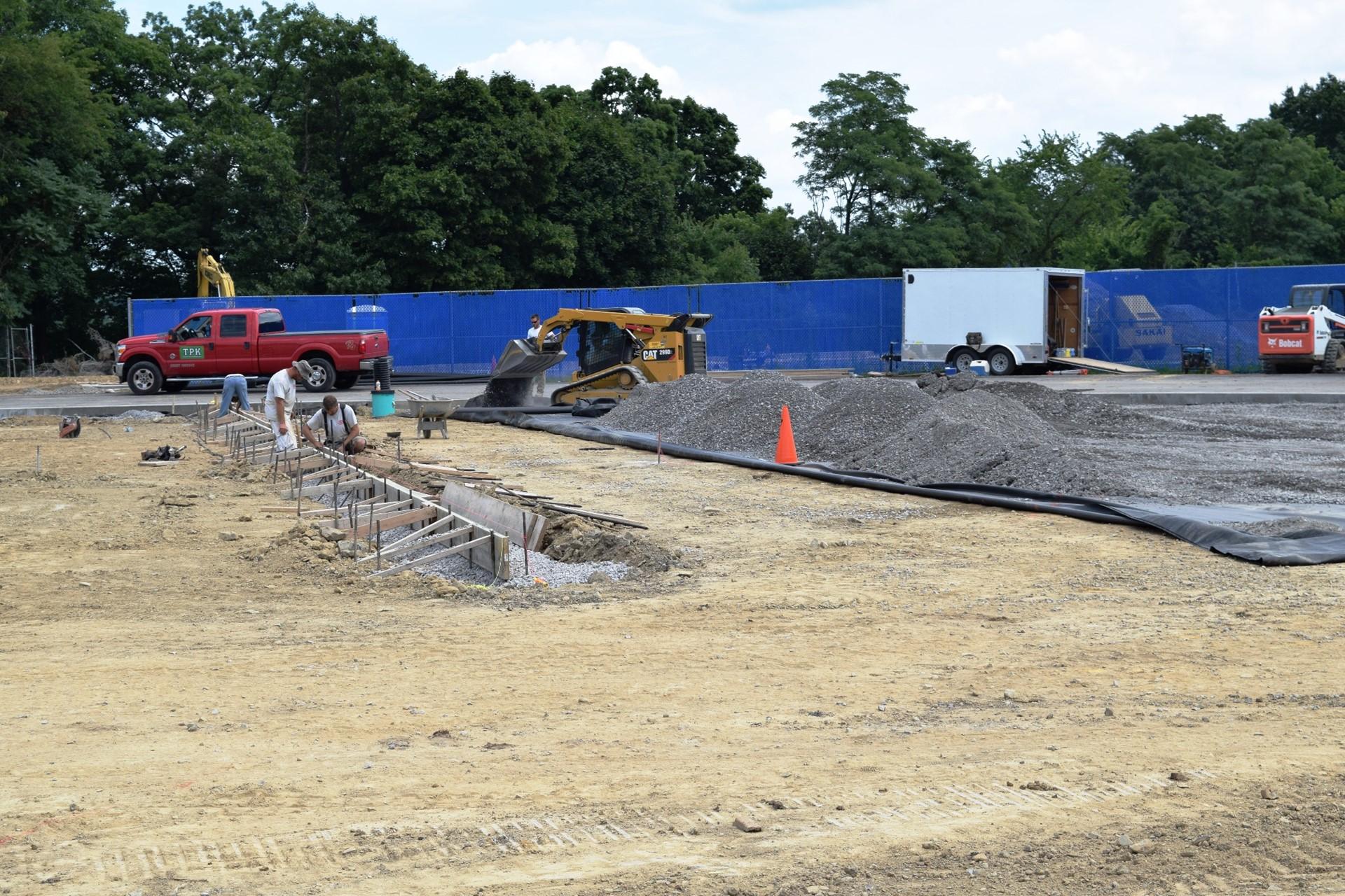 Titan Stadium construction site work: July 2016