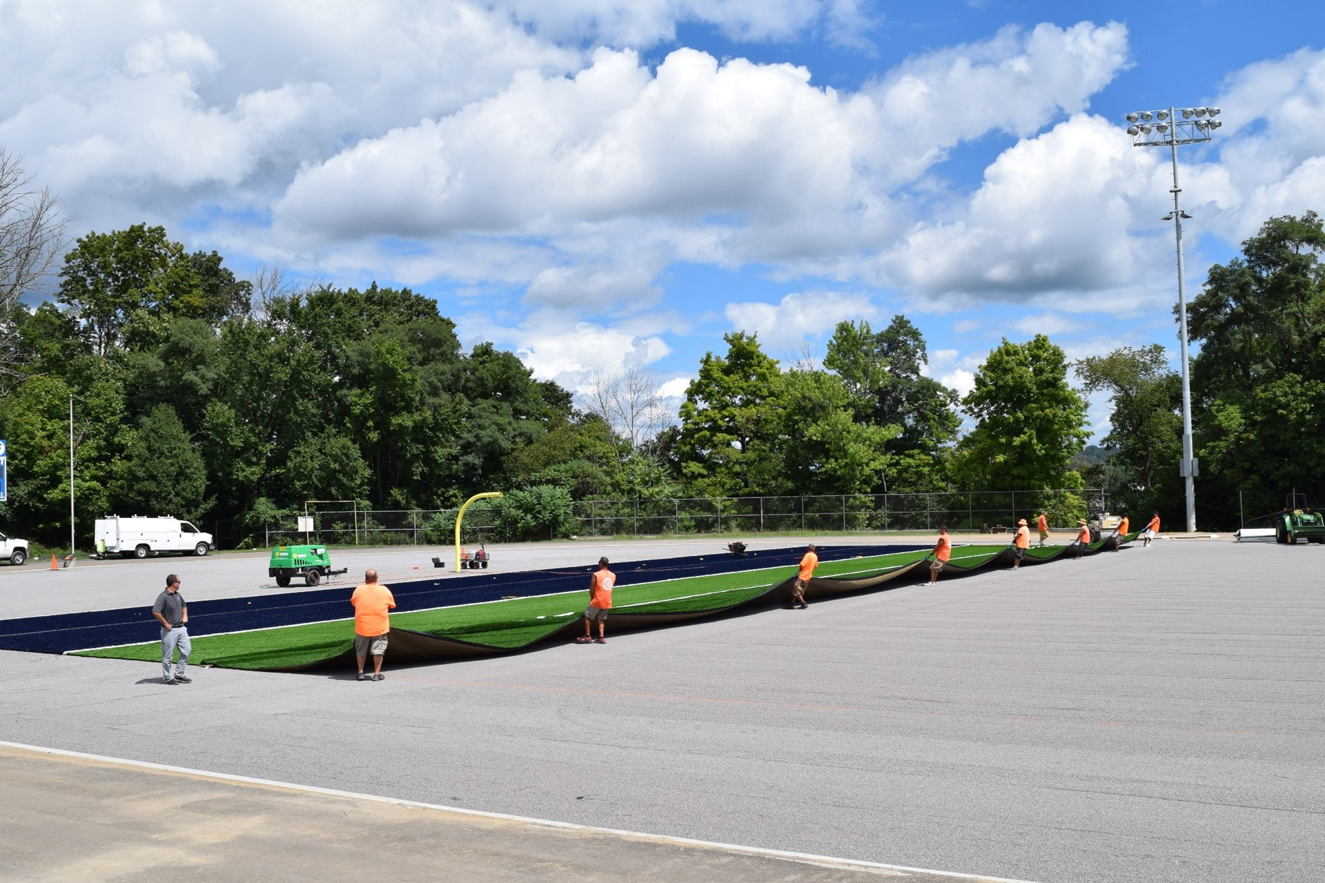 Titan Stadium turf installation: August 2016