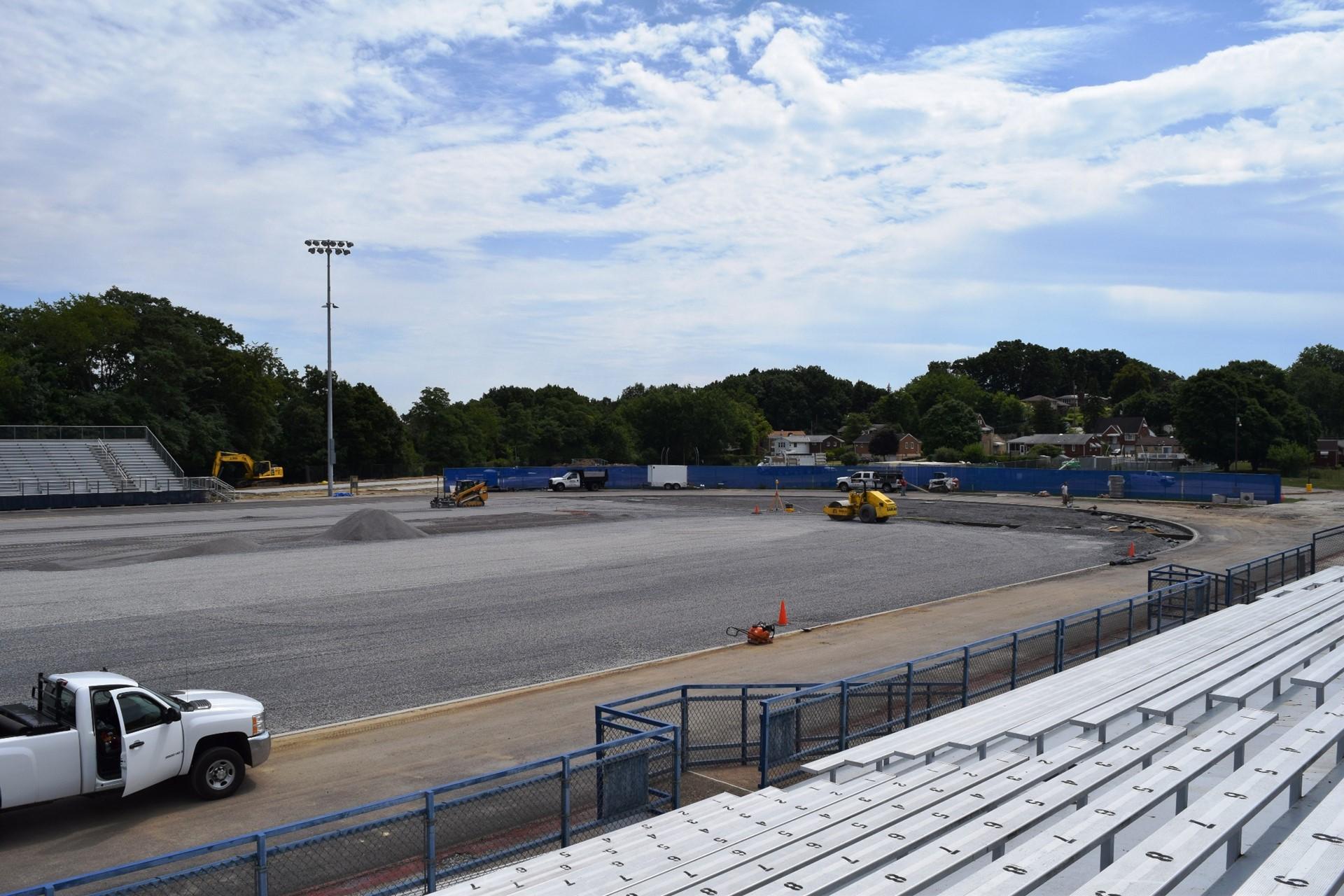 Titan Stadium construction site work: August 2016