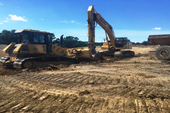 New school site excavation: August 2016
