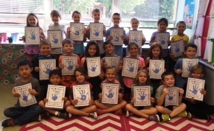 """Mrs. Zillweger's 2C class says """"Thank you"""" to our officers"""