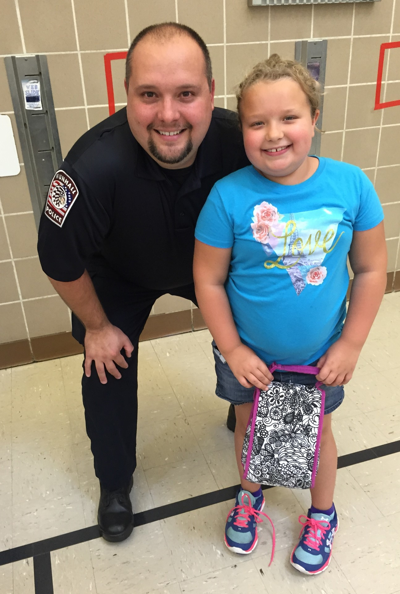 Officer Williams and daughter, Madison