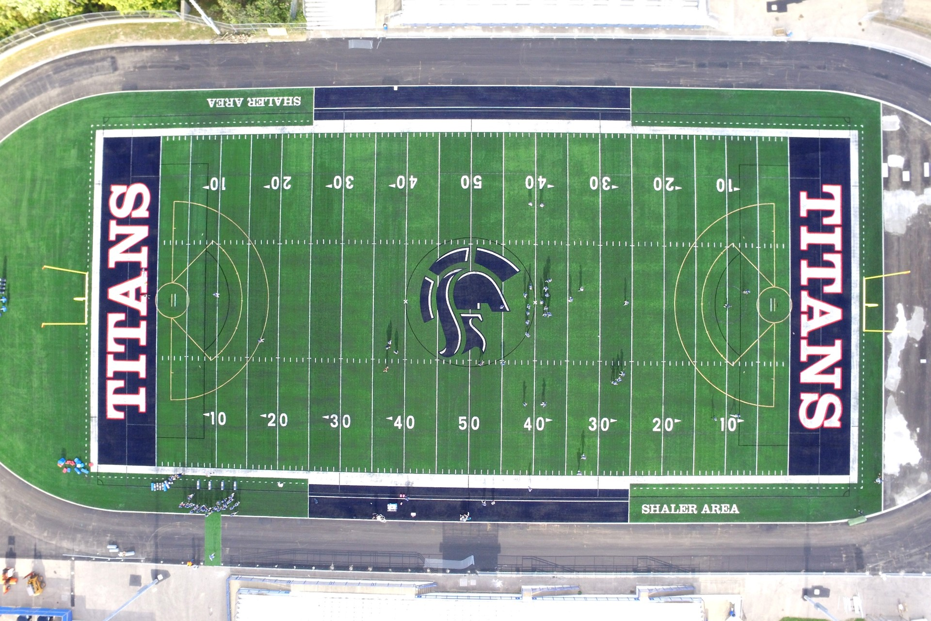 Titan Stadium turf from the sky