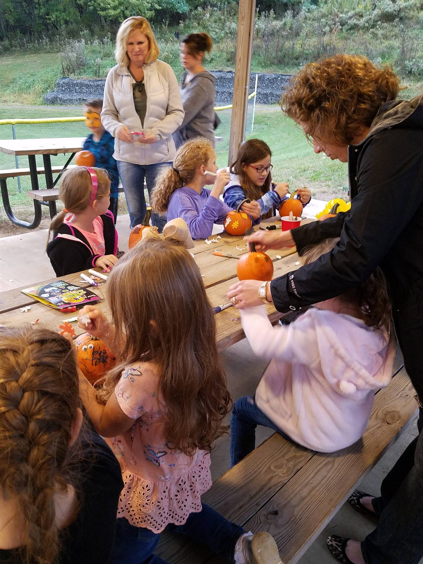 Pumpkin Decorating at the Fall Festival