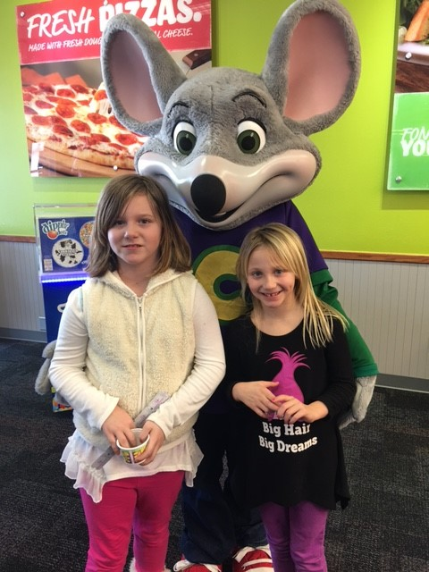 Principal and Vice Principal for a Day!  Lunch with Chuck E!!!