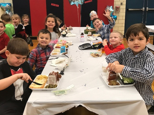 Kindergarten class at our dress up lunch