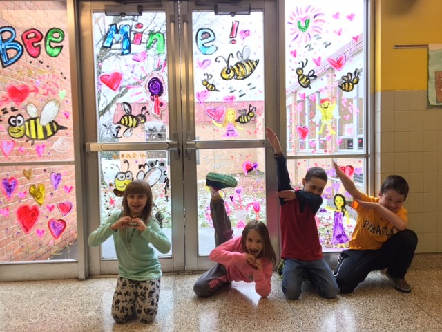 Mrs. McElwain and 3rd Grade are decorating with LOVE
