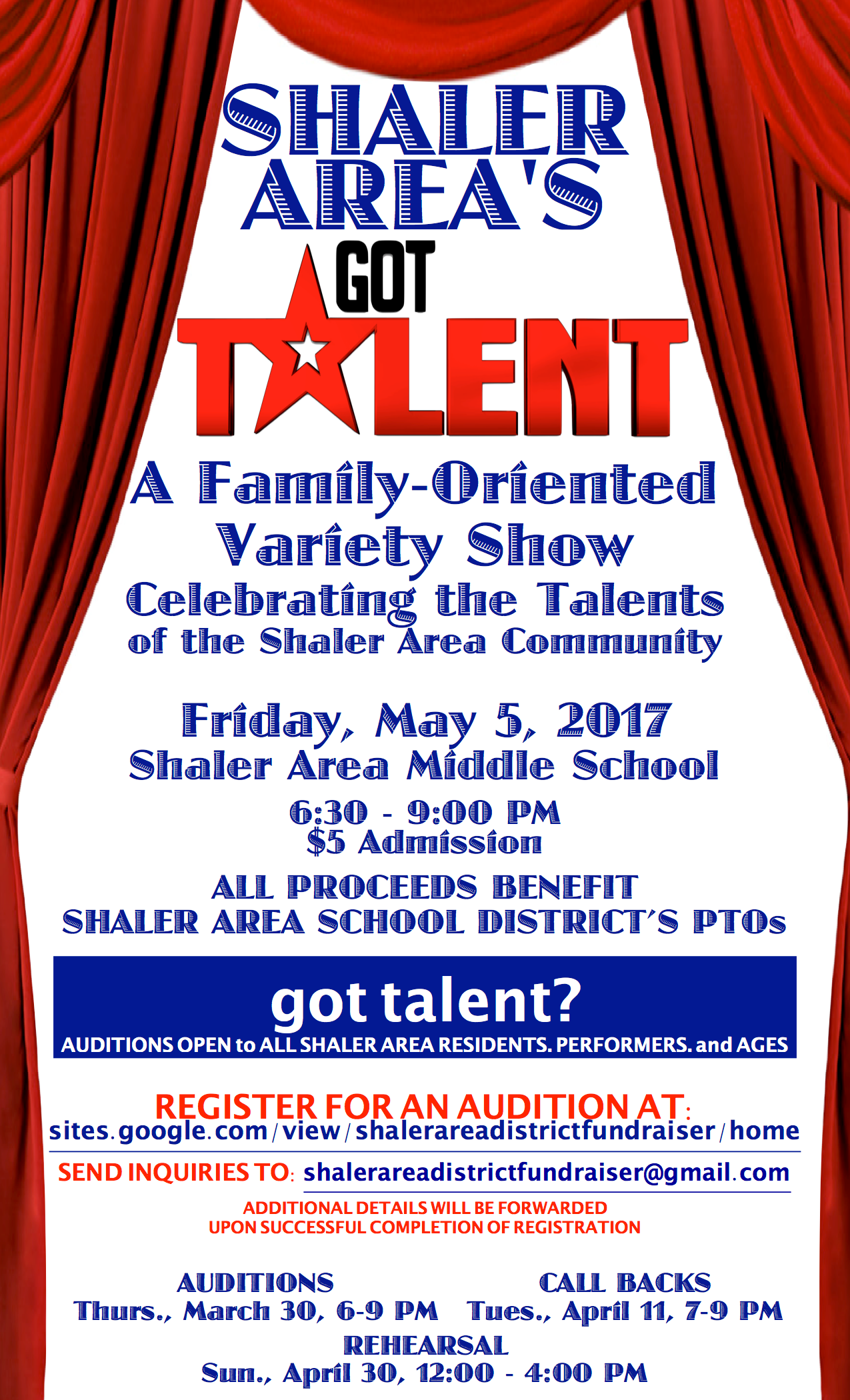 2017 All-District Fundraiser Audition Info