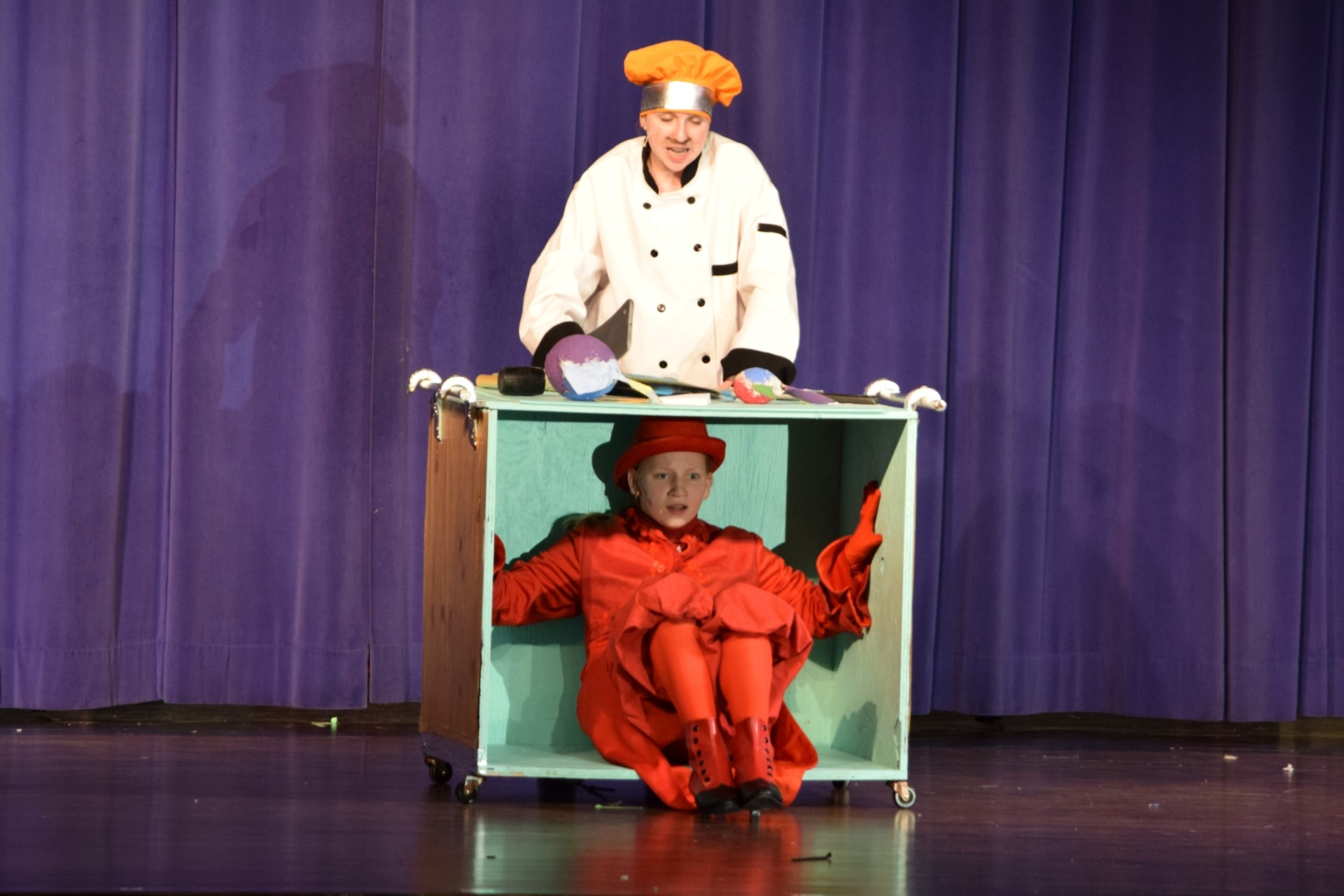 "Students take the stage in the middle school musical ""The Little Mermaid JR"""
