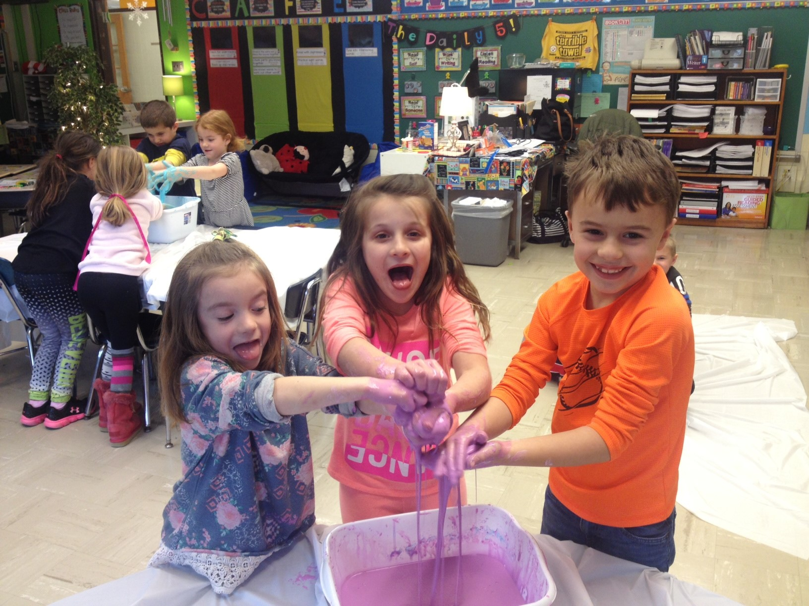 1st grade is getting scientific with oobleck