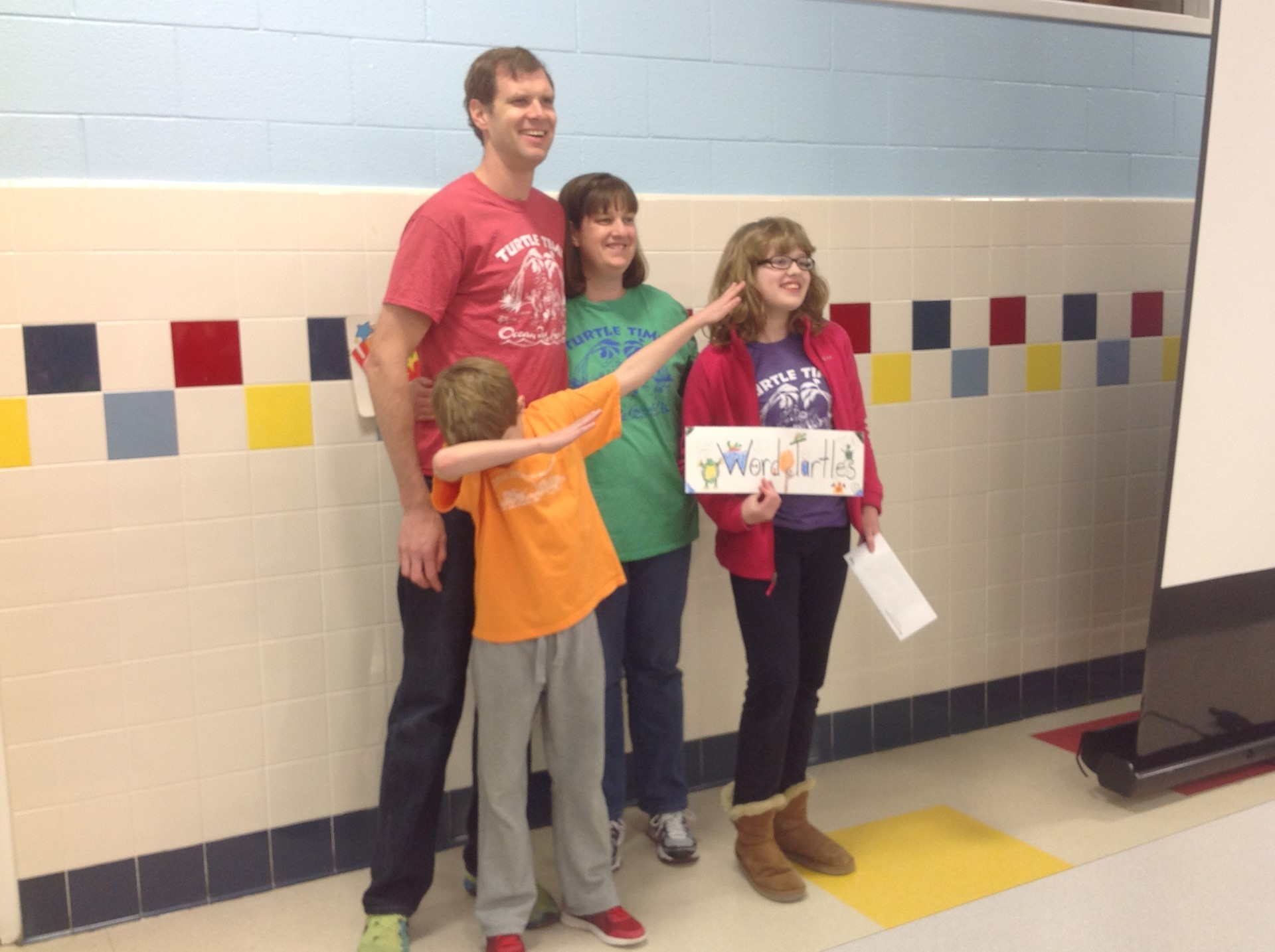 2nd Place Winners of Battle of the Books: Word Turtles