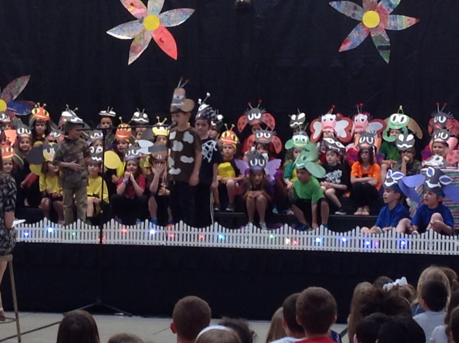 "1st graders in 1B and 1C perform in the ""BUGZ"" play"
