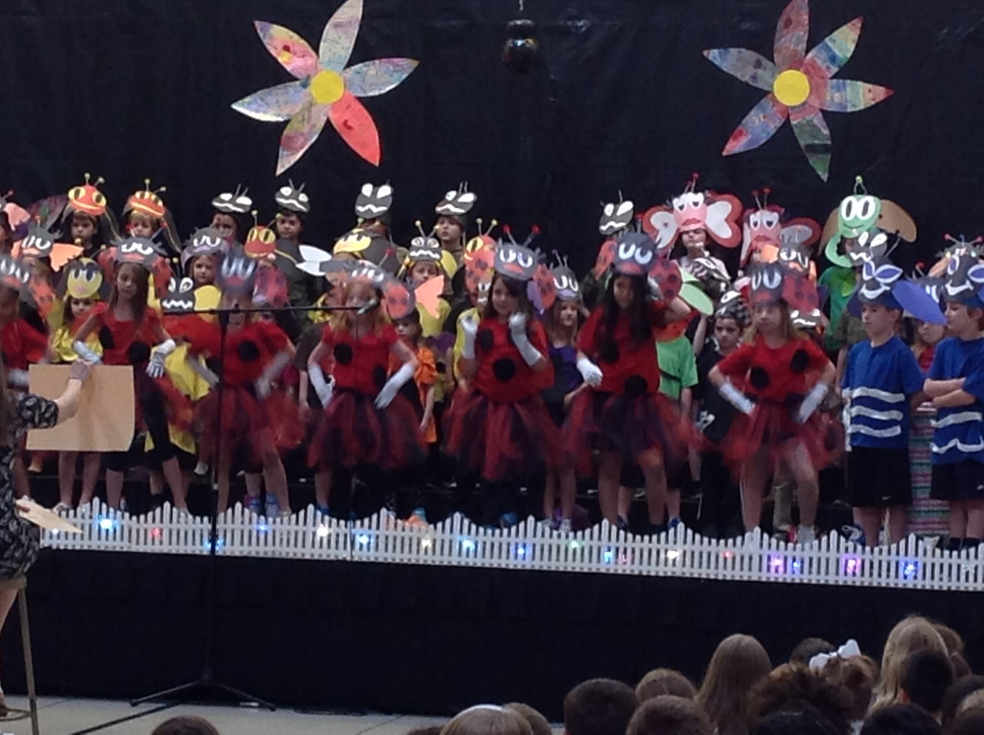 "1st grade ""Ladybugs"" perform during the Bugz play"