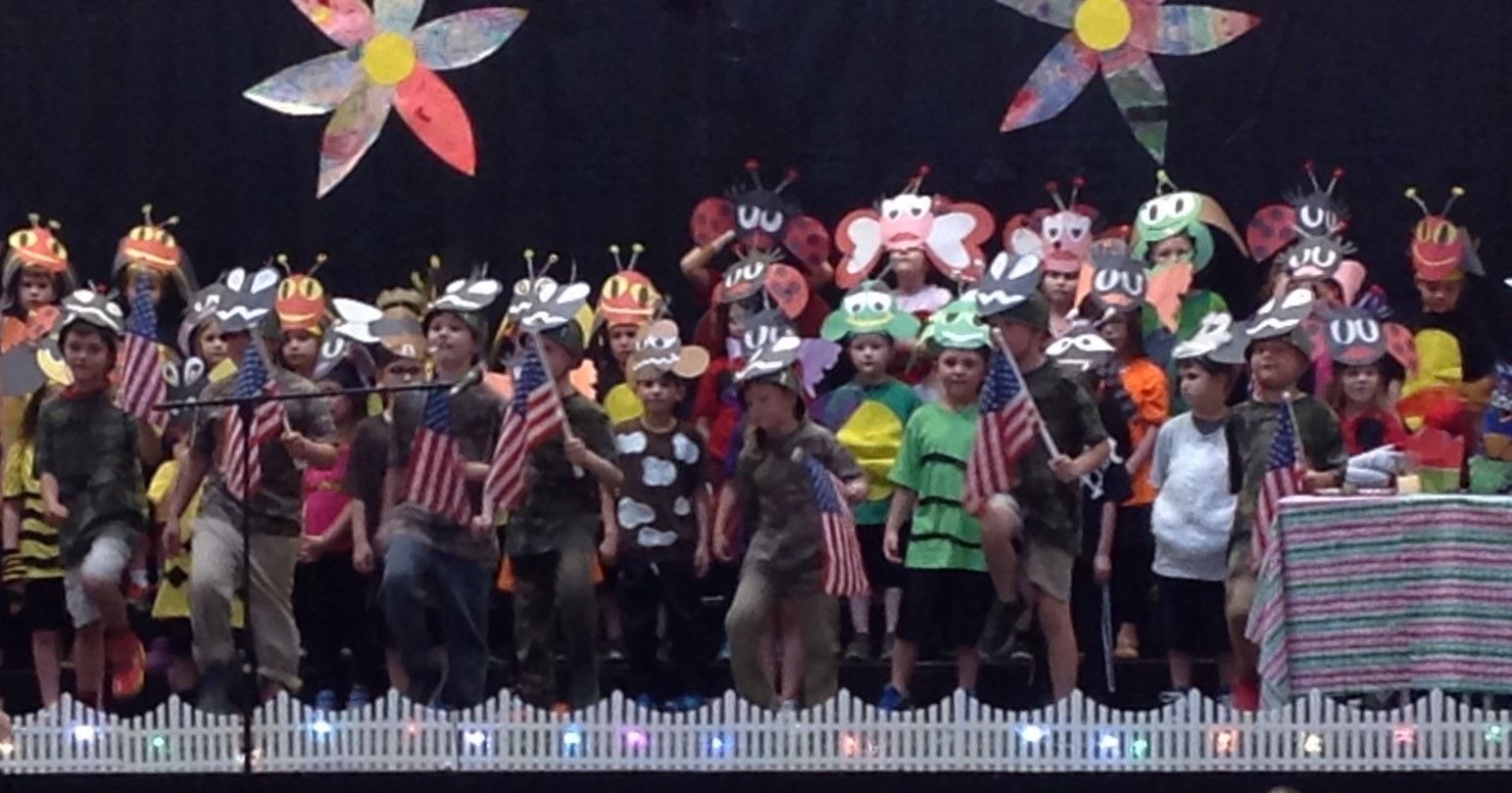 "Army ants perform during the ""Bugz"" play"