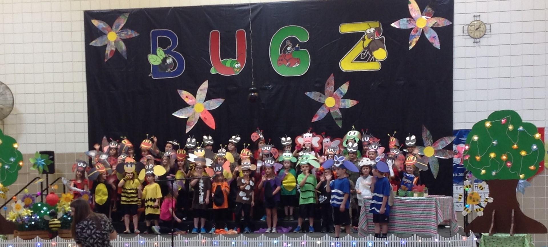 "First graders in 1B and 1C perform the ""BUGZ"" play"