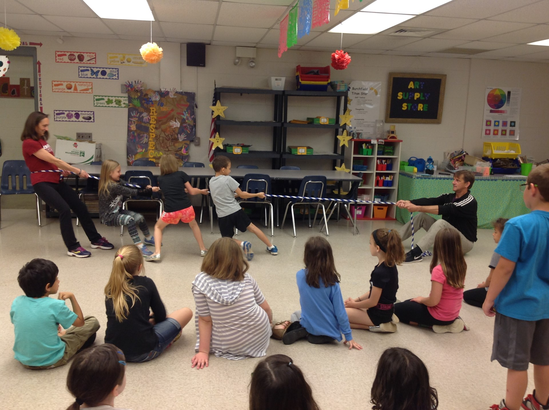 Attack Theatre working with 2nd Grade