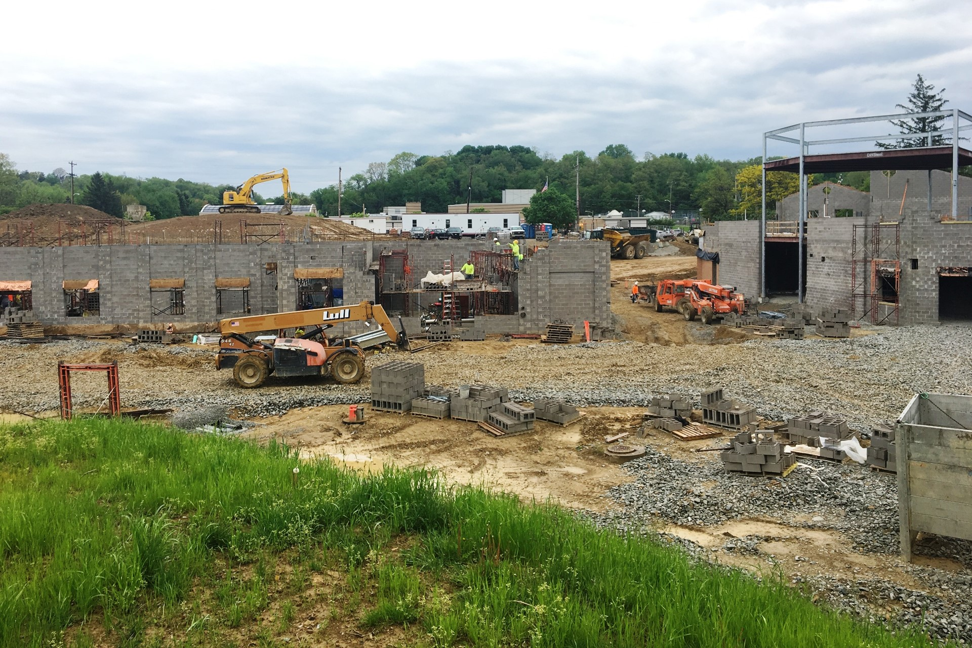 New school construction site: Site overview