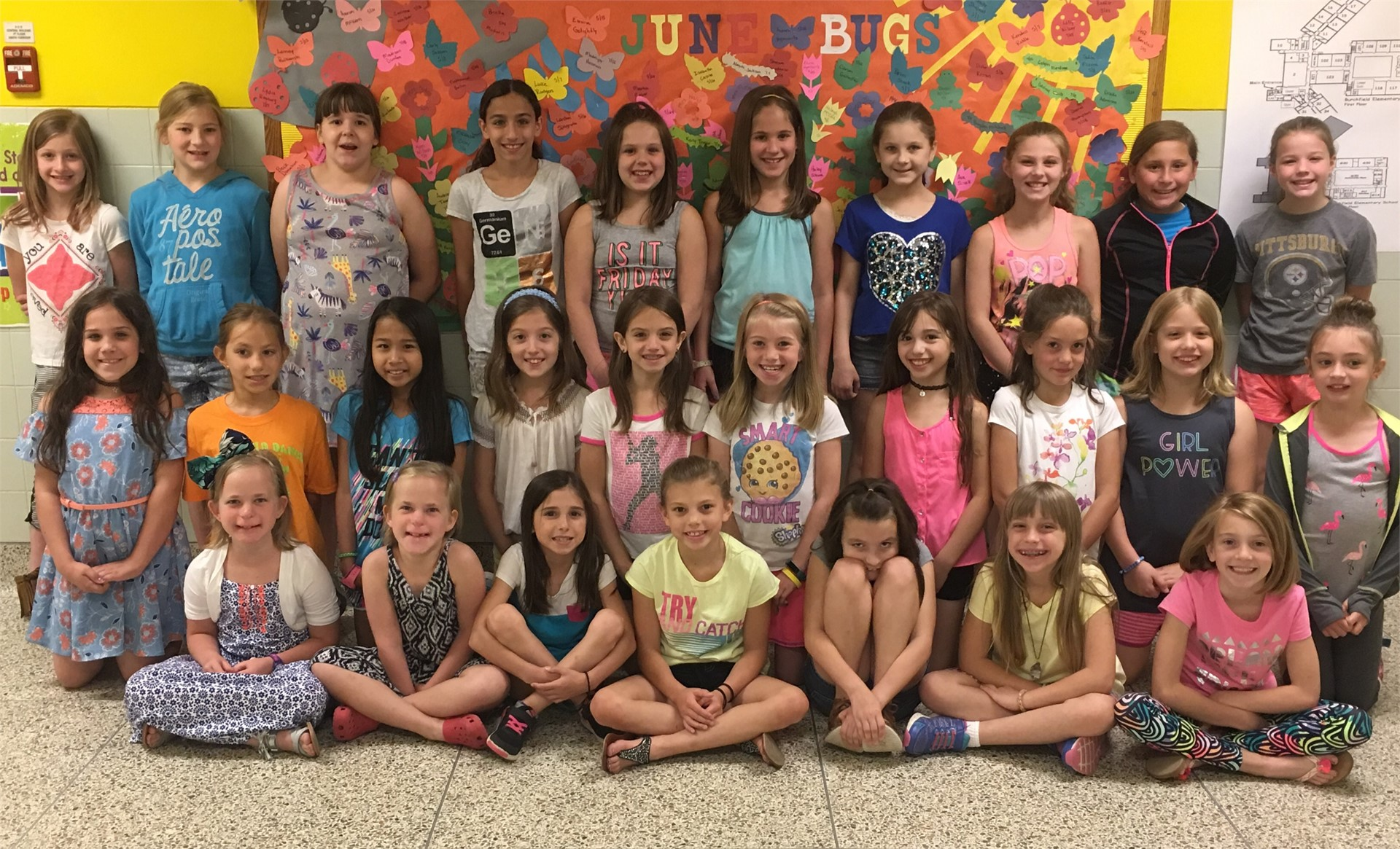 "3rd grade ""Girls Rock!"" group members"