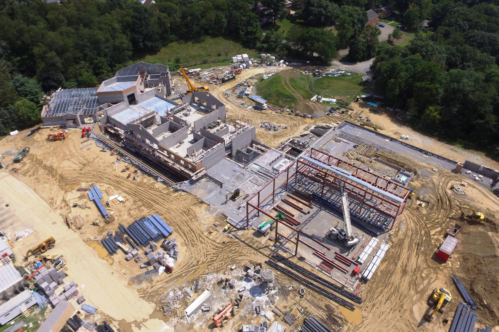 Scott Primary construction site aerial photo from a drone