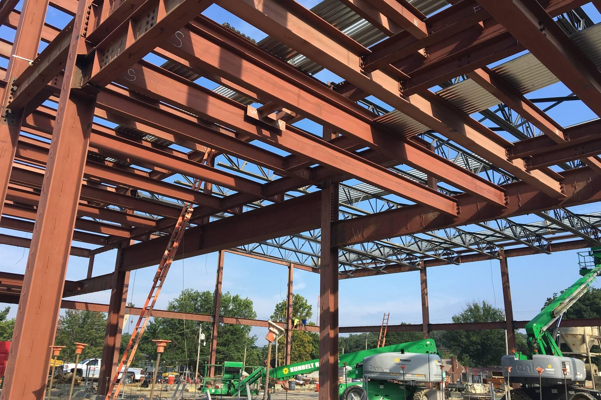Steel frame for Scott Primary school