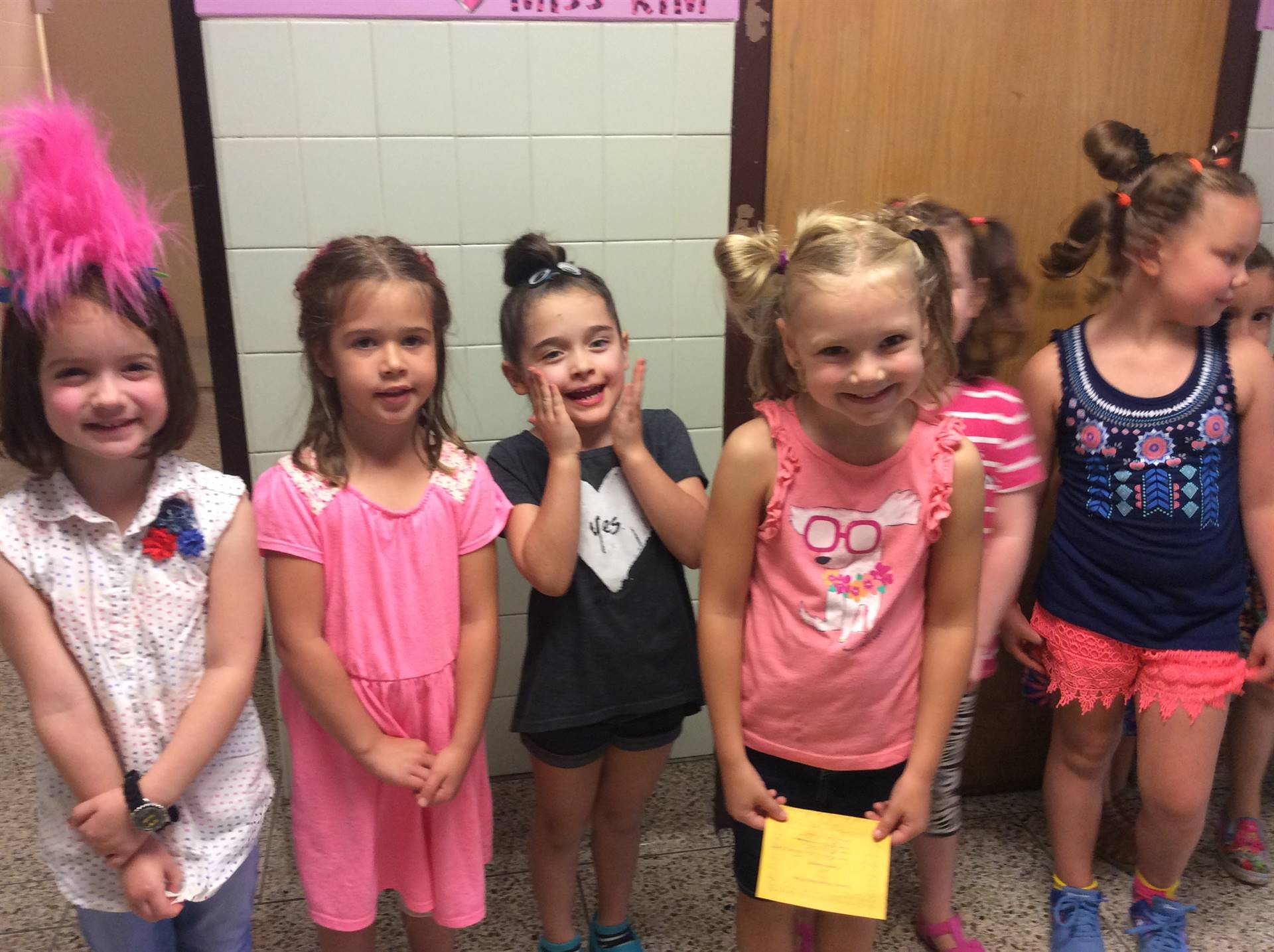 Students from K-B on Crazy Hair Day
