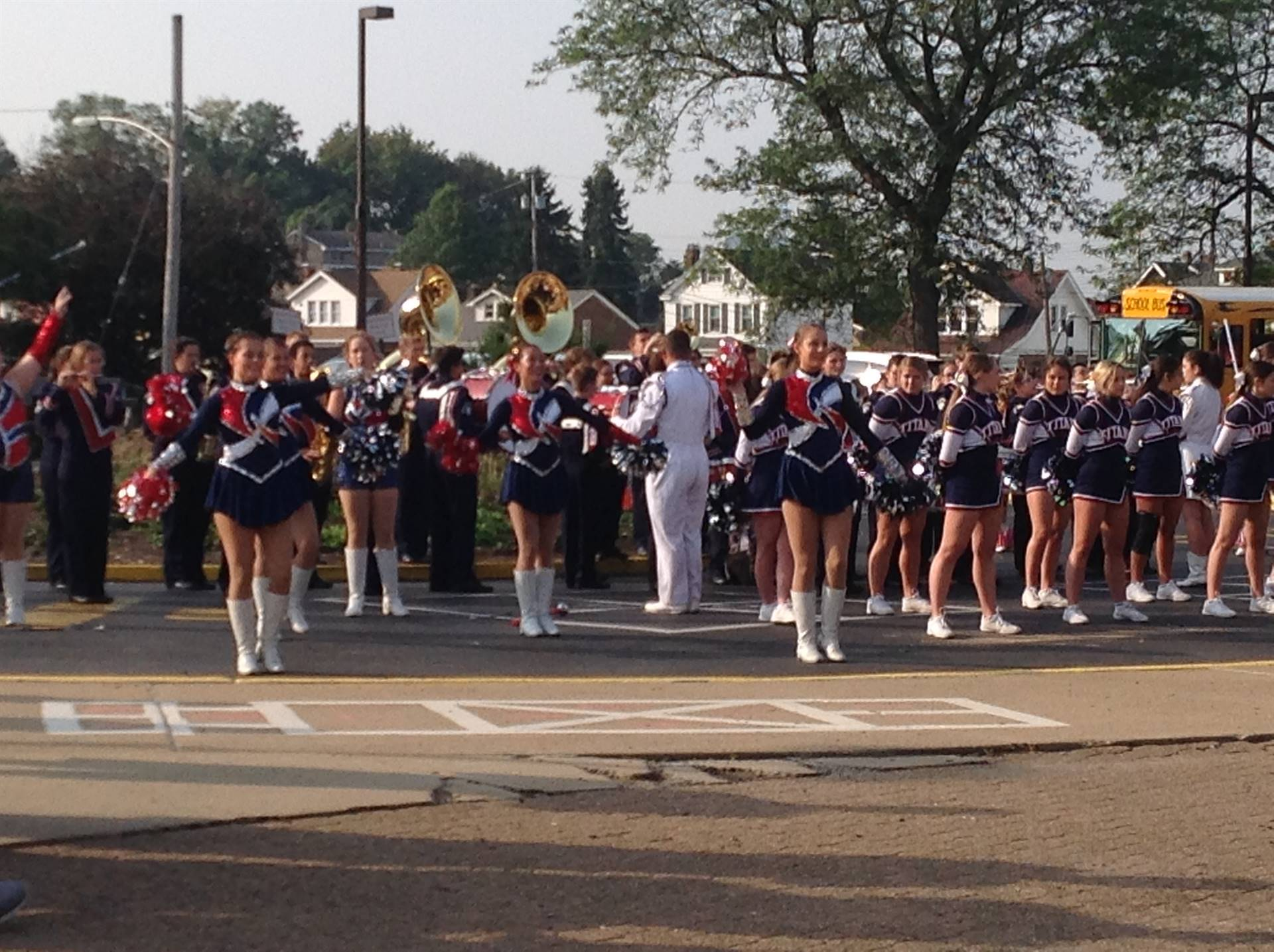 Pep Rally at Reserve - High School Band