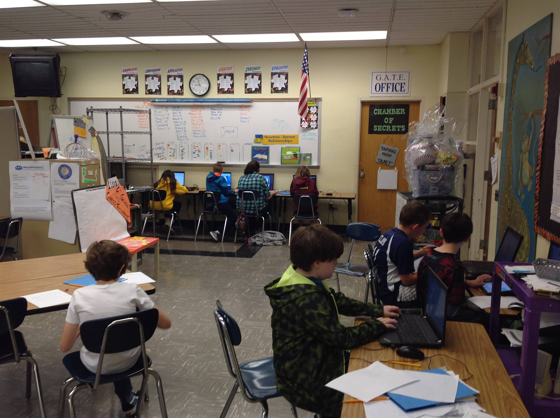 6th Graders working on their Independent Study Projects