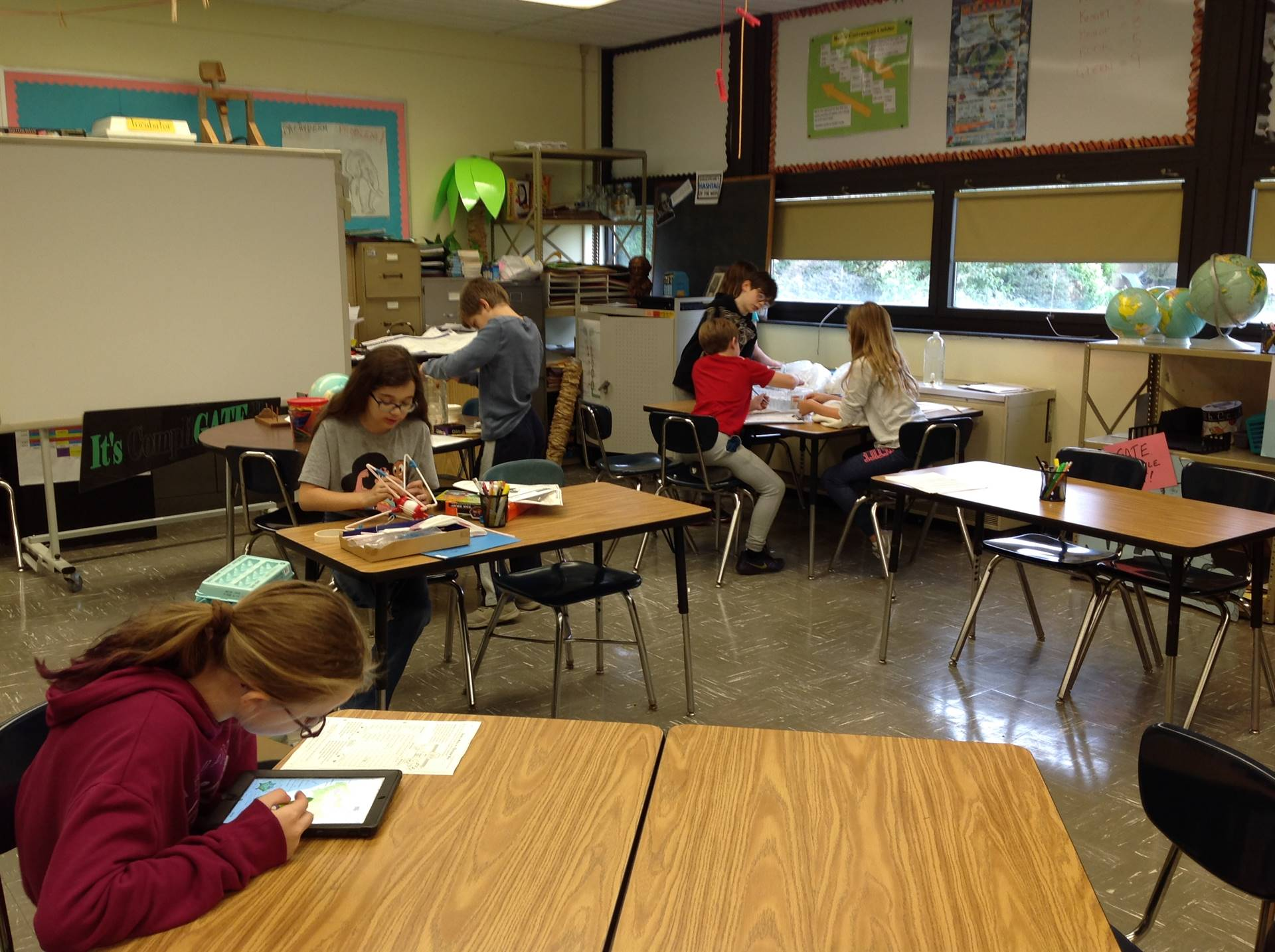 5th Graders Working on Different Project-Based Learning Tasks