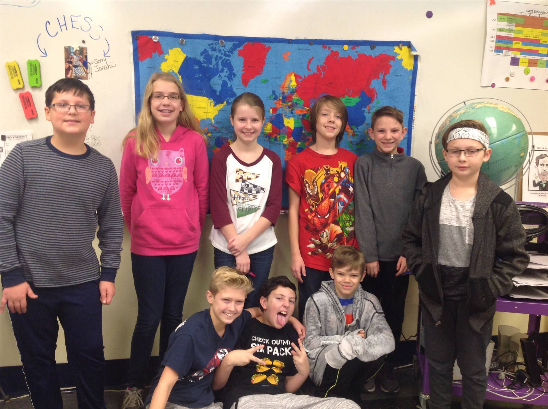 5th and 6th Grade Geography Bee Contestants